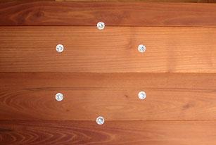 Holzdielen, Massivdielen oder Landhausdielen Intarsien Kristalldiele